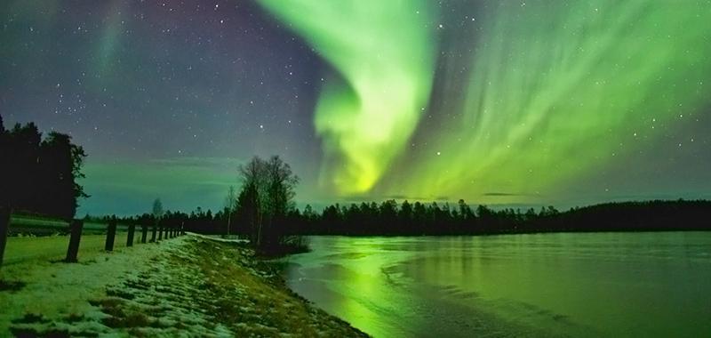 Lapponia Finlandese aurore boreali