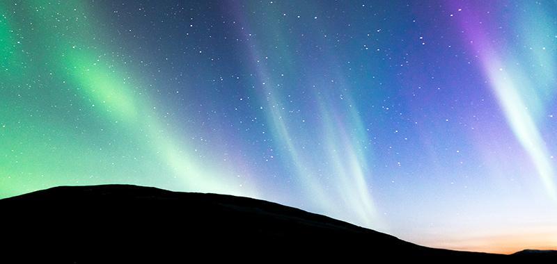 Lapponia Svedese aurore boreali