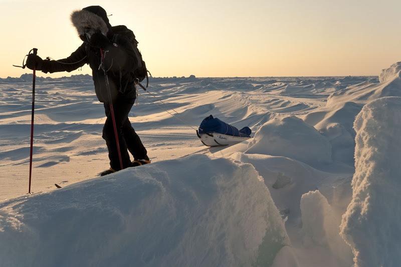 Spedizione al Polo Nord con sci